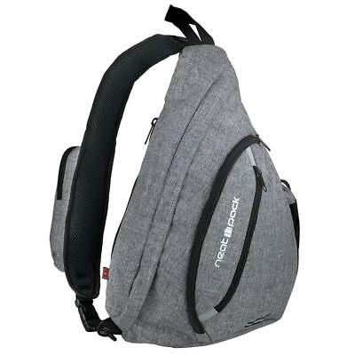 Versatile Canvas Sling Bag/Urban Travel Backpack, Grey | Wear Over Shoulder...