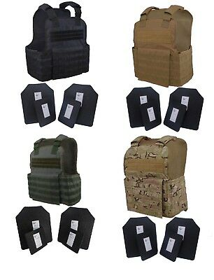 Tactical Scorpion 4Pc Level III+ / AR500 Body Armor Plates 11x14 Muircat Vest