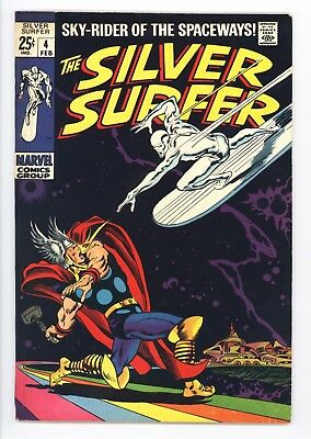 Silver Surfer #4 Vol 1 Near Perfect High Grade Classic Thor vs Surfer Cover