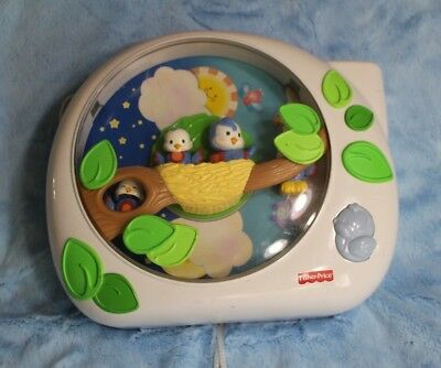 Fisher Price Flutterbye Dreams Crib toy soother lights music movement projector