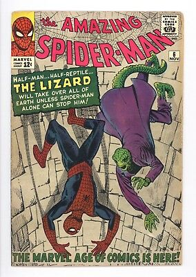Amazing Spider-Man #6 Vol 1 Near Perfect High Grade 1st Appearance of the Lizard