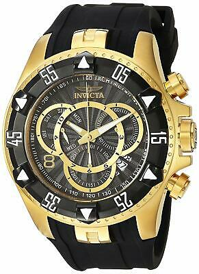 Invicta Excursion 200m Chronograph Gold Tone Black Silicone Men's Watch 24275 SD