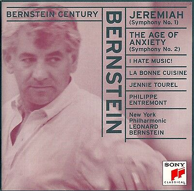 Bernstein: Jeremiah Symphony - The Age Of Anxiety, New York Philharmonic / Cd