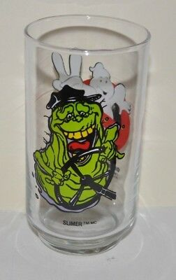 GHOSTBUSTERS II SLIMER BUS DRIVER Drinking Glass 1989 Columbia