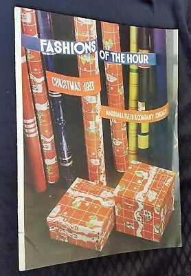 1933 Christmas Catalog Marshall Field & Co Chicago Fashions Of The Hour Toys
