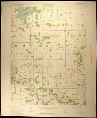 Fort Loramie Ohio Shelby Co. Newport 1962 vintage USGS original Topo chart map