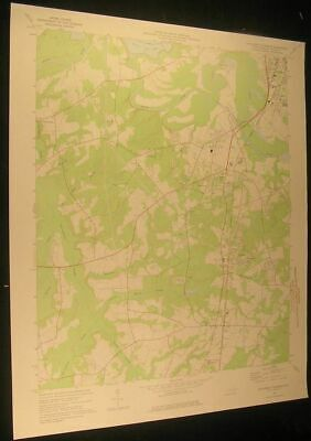 Southwest Goldsboro S. Carolina Dudley 1976 vintage USGS original Topo chart map