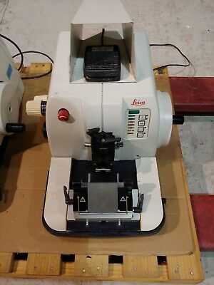 Leica RM2155 RM 2155 Rotary Microtome with Footswitch Histology Laboratory Lab