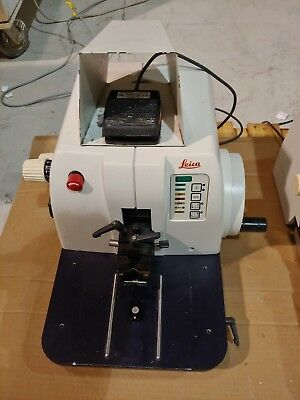 Leica RM2155 RM 2155 Rotary Microtome with Footswitch Histology Laboratory