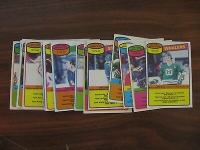 SEVENTEEN 1980/81 OPC O-Pee-Chee Team Checklists. Most unmarked