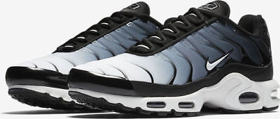 28c0059cb0d Nike Air Max Plus Mens 852630-028 Black White Synthetic Running Shoes Size  10