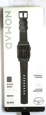 Nomad - Horween Leather Watch Strap for Apple Watch 42mm/44mm - Slate Gray