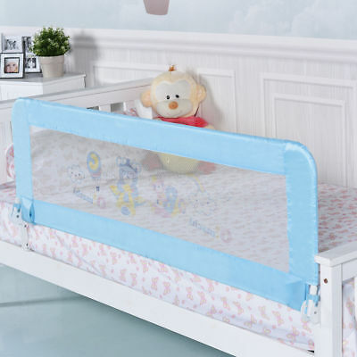 "Universal 69"" Baby Infant Breathable Toddler Bed Rail Safety Guard Swing Down"