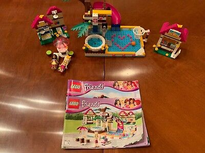 Lego Friends Heartlake City Pool 41008 Complete Set With
