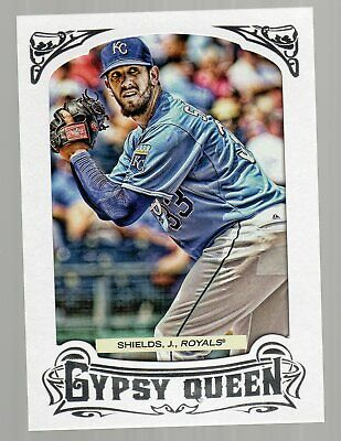 2014 (ROYALS) Topps Gypsy Queen Framed White #283 James Shields