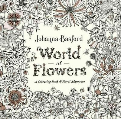 NEW World of Flowers By Johanna Basford Paperback Free Shipping