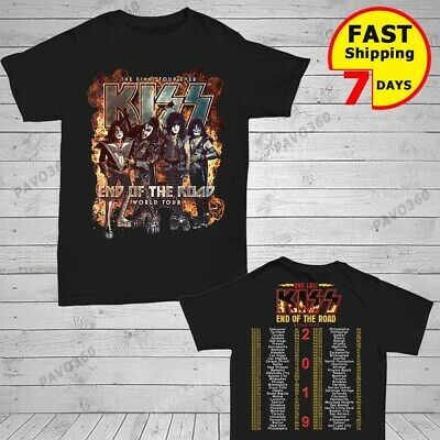 KISS 2019 'End of the Road' World Tour concert 2 side T-shirt all size shirt Men