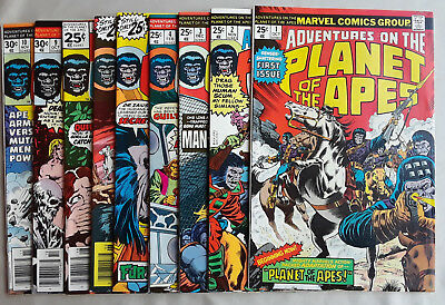 Adventures on the Planet of the Apes LOT 1 2 3 4 5 6 7 9 10 High Grade 9.2 NM-