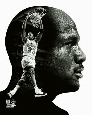 best cheap c513e 9439c Michael Jordan CLASSIC DOUBLE PROFILE Chicago Bulls Premium POSTER Print