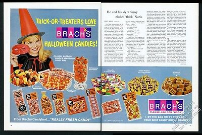1966 Brach's Halloween candy witch woman photo vintage print ad