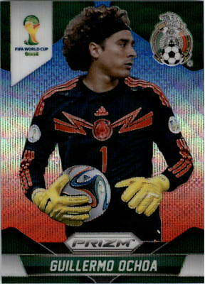 2014 Panini Prizm World Cup Prizms Blue and Red Wave  143 Guillermo Ochoa 6c13ed583