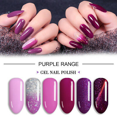 Lavender Violets 8ml Purple Range UV LED Soak Off Gel Nail Polish Color of 2018