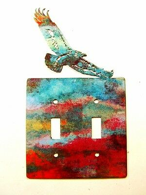 American Eagle Double Light Switch Cover Plate by Steel Images USA 030315NN