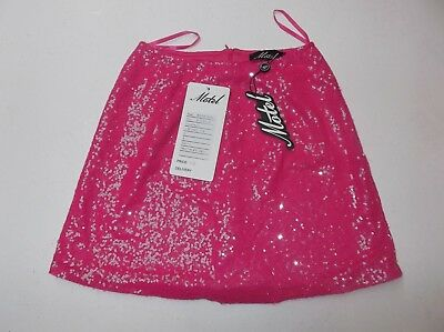 mr78 MOTEL ROCKS Mini Broomy Skirt in Candy Rose Pink S Small