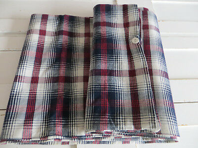"""Unused   Checked Duvet Cover Plaid White Blue Red  Single Bed Twin 56 """" by 71"""""""