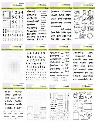 Clear Stamps CRAFTEMOTIONS Silikon Stempel BULLET JOURNAL KALENDER Texte Schrift