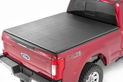 Rough Country Soft Tri-Fold Bed Cover (8ft Bed) - 17-17 Ford F250 Super Duty