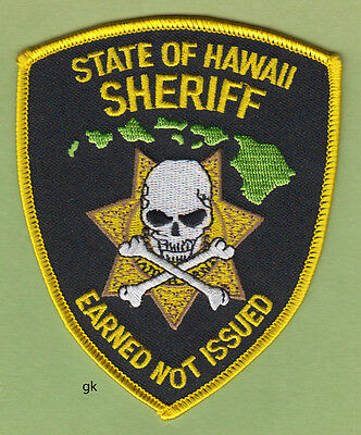 State Of Hawaii Sheriff Police Shoulder Patch (Earned Not Issued)