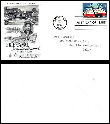US FDC 1967 Rome, NY (B10) Erie Canal Sesquicentennial SC#1325
