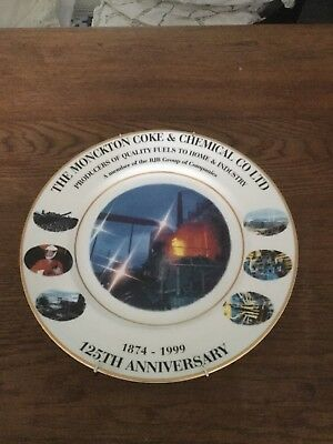 The Monckton Coke & Chemical Co Ltd 125th Anniversary Collectors Plate  1999
