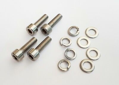 Cycling, Bike Bottle Cage Allen Head Bolts, Carrier. 4 Pack Stainless Steel