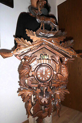 huge  musical dancers cuckoo clock ,black forest 2 melodies 3 weight 8 day clock