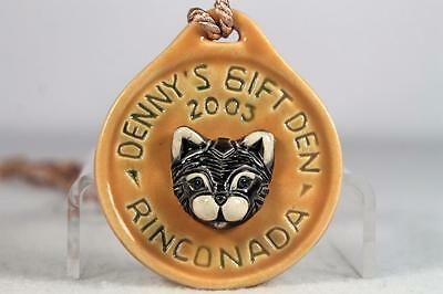 Rinconada Event Medallion 2003 Cat From Denny's Gift Den SIGNED NEW!