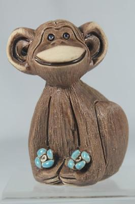 Rinconada Classic OLD #45 Chimpanzee With Teal Flowers Retired-In Rinconada Box