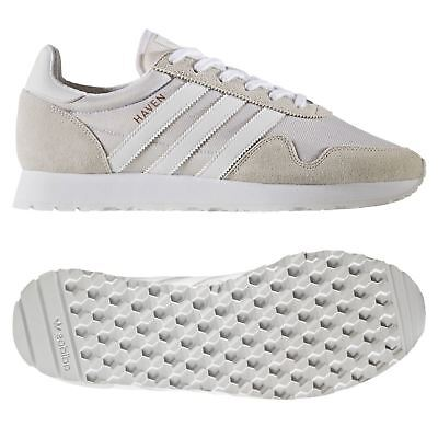 official photos f2a96 1e439 Adidas Originaux HOMME Havre Chaussures Blanches Baskets Rétro Course Neuf
