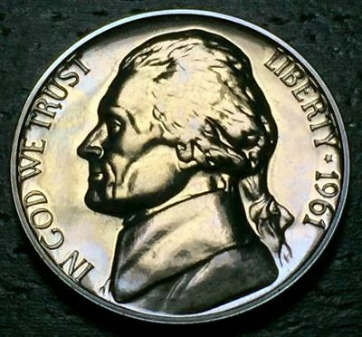 1961 Proof Jefferson Nickel Full Steps Nice Coins Priced Right Shipped FREE