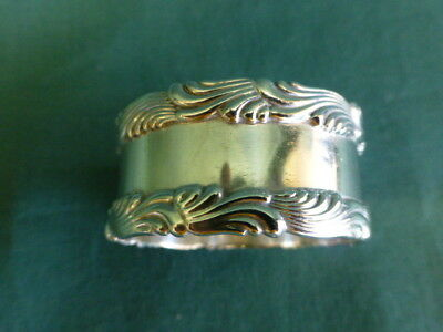 Antique Tiffany  & Co 3342 Sterling Silver Wave Pattern Napkin Ring
