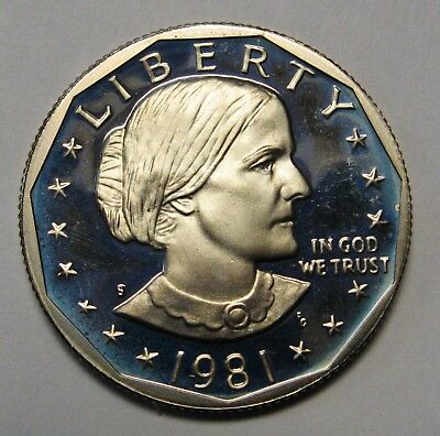 1981-S T1 Filled S Proof Susan B Anthony Dollar Shipped FREE Best Price on Ebay