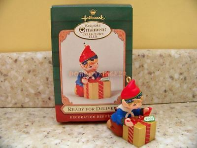 Hallmark 2001 Ready For Delivery Elf Christmas Ornament
