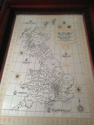 Ltd Edition HM 1978 Solid Sterling Silver Map of Great Britain Danbury Mint
