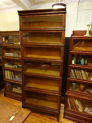 Mission Oak Macey/Globe Wernicke 6 Stack Barrister Bookcase Step Back Book Shelf