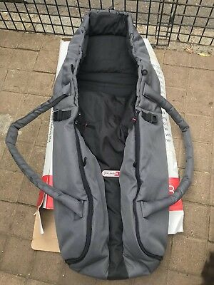 Phil And Teds E3 Cocoon, Carry Cot, Charcoal And Black, Boxed