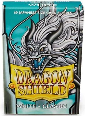 YUGIOH Dragon Shield Mini 60 JAPANESE  Sleeves Classic - White - Small Size