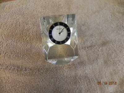 Vintage Seiko Crystal Clock with mother of pearl dial