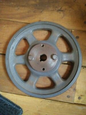 Browning AK71H water pump cast iron pulley 6.95 diameter, 5/8 inch bore hole