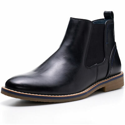 Alpine Swiss Men's Owen Chelsea Boots Pull Up Ankle Boot Genuine Leather Lined